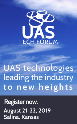 UAS Tech Forum: UAS technologies leading the industry to new heights. Register now: August 21-22, 2019, Salina, Kansas